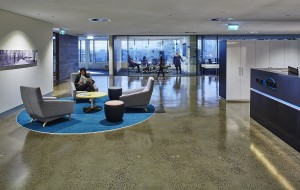 Flexera Melbourne - Modern and Collaborative. This refurbishment included upgrades to the kitchen and breakout areas